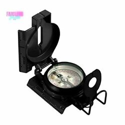 Us Military Tritium Lensatic Compass Accurate Waterproof With Pouch Black New