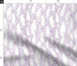 Small Scale Coral Purple Mermaid Coordinate Ocean Spoonflower Fabric By The Yard