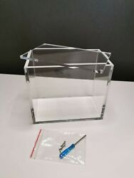 Pokemon Screw Acrylic Booster Box Display Case Fits All Modern Booster Boxes