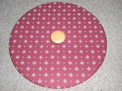 Longaberger Lid-traditional Red Fabric For The Large Fruit Or Apple Basket, New