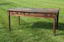 Antique Country Store Counter Mercantile Hardware Store Table Kitchen Farmhouse