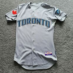 2009-2011 Authentic Majestic Cool Base Blank Blue Jays Road Jersey Sz 40 W/gift