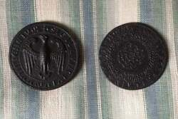 Vintage Cast Iron Antique Coinage Large Reproductions Collectable Paperweights
