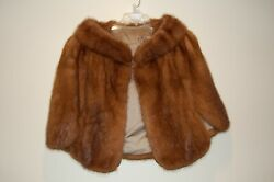 Vintage Collectible Mink Capelet With Additional Pelts Included