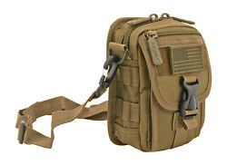 EastWest USA Tactical Over Shoulder MOLLE Attachable Military GO BAG DESERT TAN $24.95