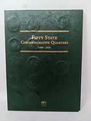 Full Set Fifty State Commemorative Quarters 1999-2008, 52 Coins Green Book
