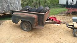1950and039s Chevy Pickup Box Bed 6and0396 Stepside Truck Box Trailer Ratrod Parts
