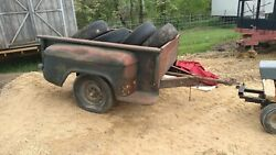 1950's Chevy Pickup Box Bed 6'6 Stepside Truck Box Trailer Ratrod Parts