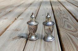 Sterling Silver Salt Pepper Shaker 4 7/8 Andrdquot Weighted Pat Pend Antique Rare