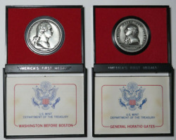1974 America's First Medals - Washington Before Boston And General Horatio Gates