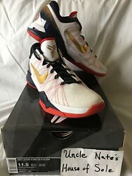 Nike Kobe Zoom Vli 7 System 2011 And039gold Medal Team Usaand039 Hoh Excl. Size 11.5 Ds