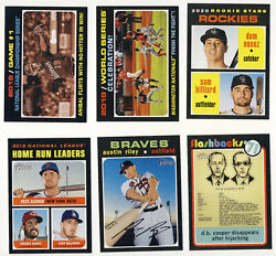 Austin Riley 2020 Topps Heritage Sp Db Cooper Alonso Bellinger Anibal + Rookies