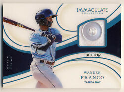 Wander Franco 2020 Panini Immaculate Player Worn Button /10 Prospect Rookie Rc