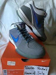 Nike Kobe 2009 Zoom Iv 4 Minneapolis 'mpls' Lakers Og, Suede, Size 11, Ds