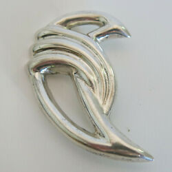 Sterling Silver Brooch Modernist Abstract Taxco Mexico T0-64 22.0g [6489]