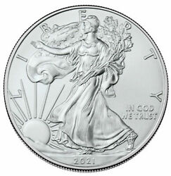 8-2021 1 Oz. Type-1 Silver Eagle Coins First Strike From U.s. Mint Tube