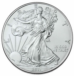 20 -2021 1 Oz. Type-1 Silver Eagle Coins First Strike From U.s. Mint Tube