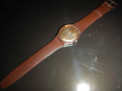 Rare Swatch Swiss 1983 Gold Brown Prototype Sehr Selten