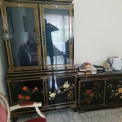 Chinese Lacquer Living Room Set