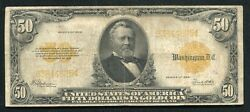 Fr. 1200 1922 50 Fifty Dollars Gold Certificate Currency Note Very Fine
