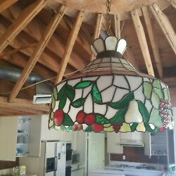 Stained Glass Fruit Chandelier