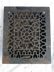 9 5/8 X 11 3/4 Cast Iron Floor Wall Register Heat Grate Vent Grille Louver