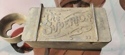 Vintage The Superior B-295 Cast Iron Implement Farm Tractor Tool Box 13 Rare