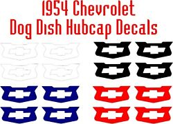 1954 Chevy Hubcap 150 210 Dog Dish Coupe Convertible Sedan Delivery Decal Set