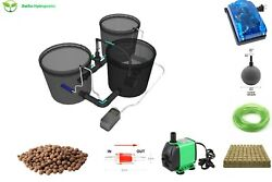 Recirculating Deep Water Culture Rdwc Hydroponic System5 Gallon [set Of 2]