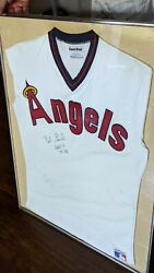 Vintage Angels Bobby Grich Autograph California Angels Jersey Framed