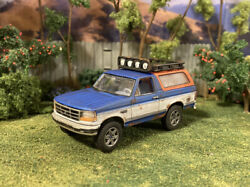 1992 Ford Bronco 4x4 Rusty Truck Weathered 1/64 Customized Barn Find Diecast