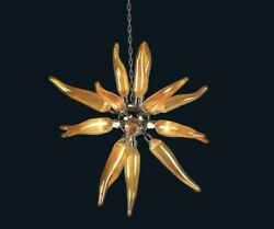 Chandelier Suspended Glass Of Murano Modern 6 Lights Made In Italy By Hand