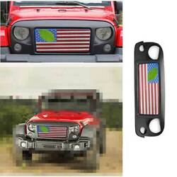 Fit For Jeep Wrangler Jk 2007-2017 American Flag Style Car Front Bumper Grille