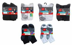 Hanes Menand039s Comfortblend Freshiq Socks Crew Ankle Tube And Low-cut Cotton Lot