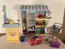 Barbie Doll Happy Family Shopping Fun Grocery Store Market Playset