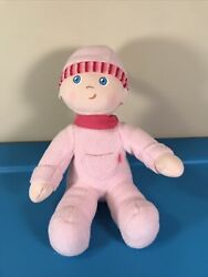 """10"""" Haba German Snug Up Dolly Luisa Pink My First Baby Girl Doll Soft Plush Toy"""