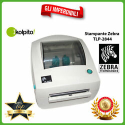 Printer For Labels Zebra Tlp2844 Thermal Direct Ink Pleated New