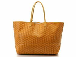 Goyard Saint Louis Gm Tote Bag Yellow Pvc Leather Used With Pouch