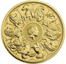 2021 1 Oz Gold Andpound100 Great British Queenand039s Beast Collection Coin.