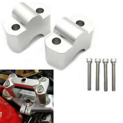 Handlebar Riser 30mm Height Up Adapters Fit Bmw G310r G310gs 17-20 Silver