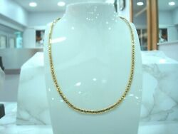 Necklace Yellow Gold 18 Carat 750/000 Mesh Bean Straight 17 11/16in 10.80 Grs