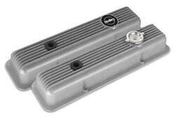 Holley Muscle Series Valve Cover Aluminum Natural Finish For 1958-1986 Chevrolet