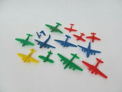 Lot Of 12 Vintage Mpc Plastic Airplanes Military Aircraft Toys
