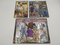 Lot Of David Caryco Dress Me Up Refrigerator Magnets Michelangelo 1990's