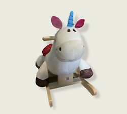 B. Toys Wooden Plush Rocking Unicorn Rodeo Rockers Dilly-dally Horse