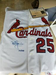 Mark Mcgwire Signed St.louis Cardinals Jersey Steiner-mlb-on Line Coa's Look...