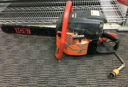 Ics 695f4 16 Gas Powered Diamond Chain Concrete Saw Package W Guidebar And Chain
