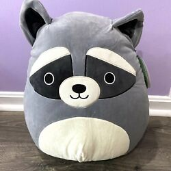 Rare Original Squishmallow Randy The Raccoon 16 Plush Pillow 2021 New With Tags