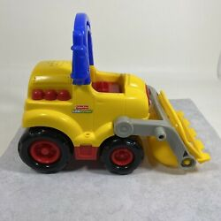 Fisher Price Little People Front End Loader Truck 2003 Mattel Yellow