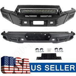 Textured Heavy Full Width Front And Rear Bumper W/ Leds For 2009-2014 Ford F150
